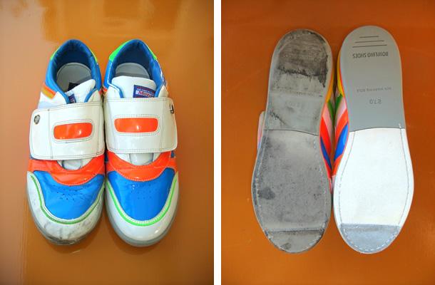 クリーニング前の靴とクリーニング後の靴